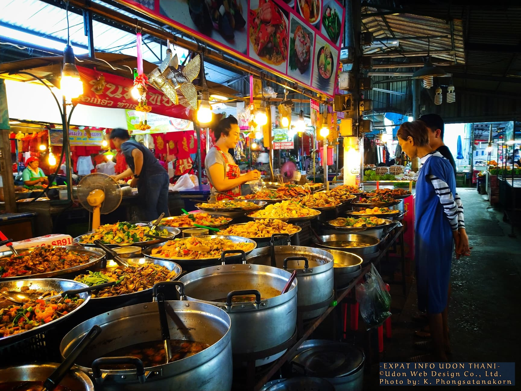 Ban Huay Market Food Stall, Udon Thani Thailand