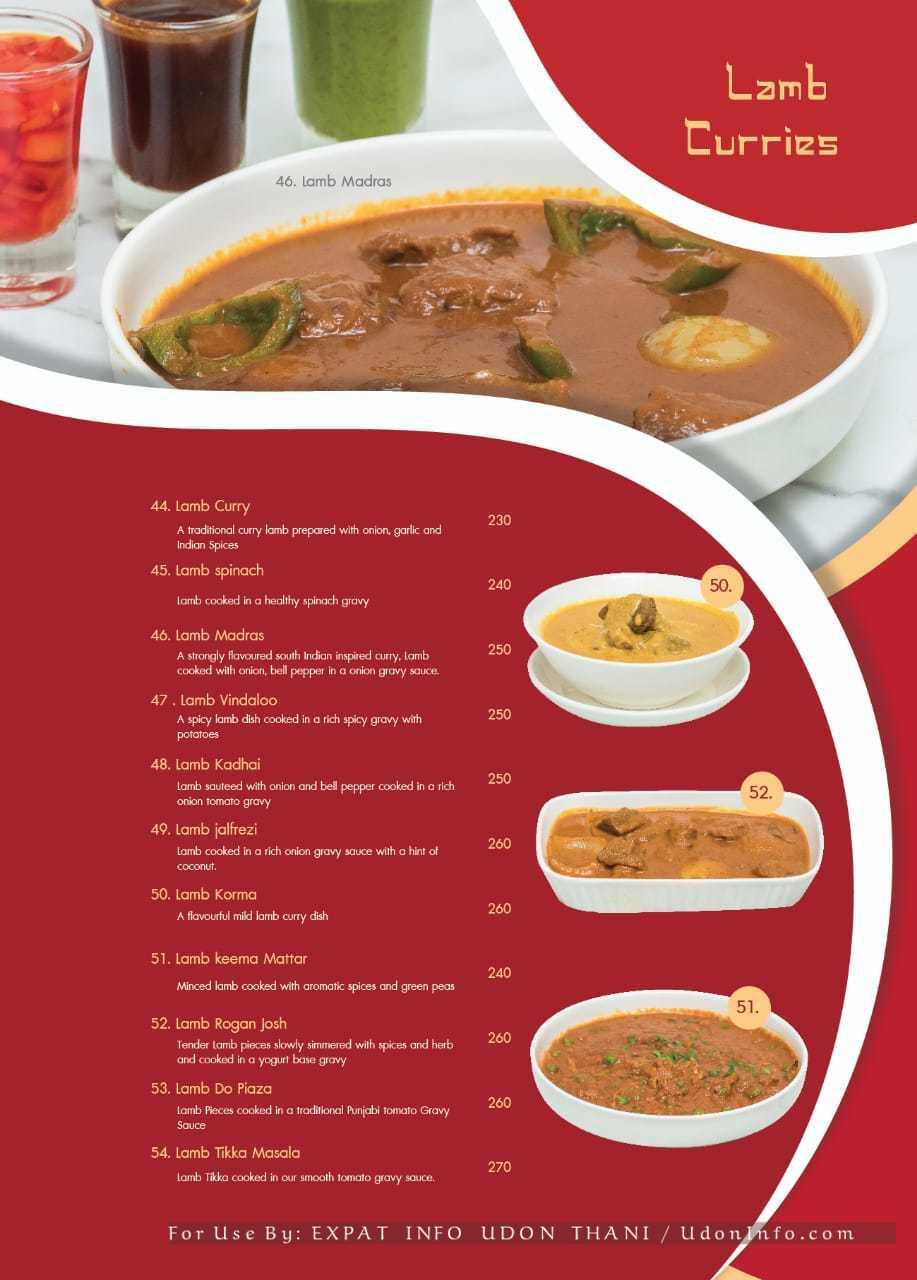 PRIMANI INDIAN RESTAURANT MENU Tikka Tandoor Curry Udon Thani